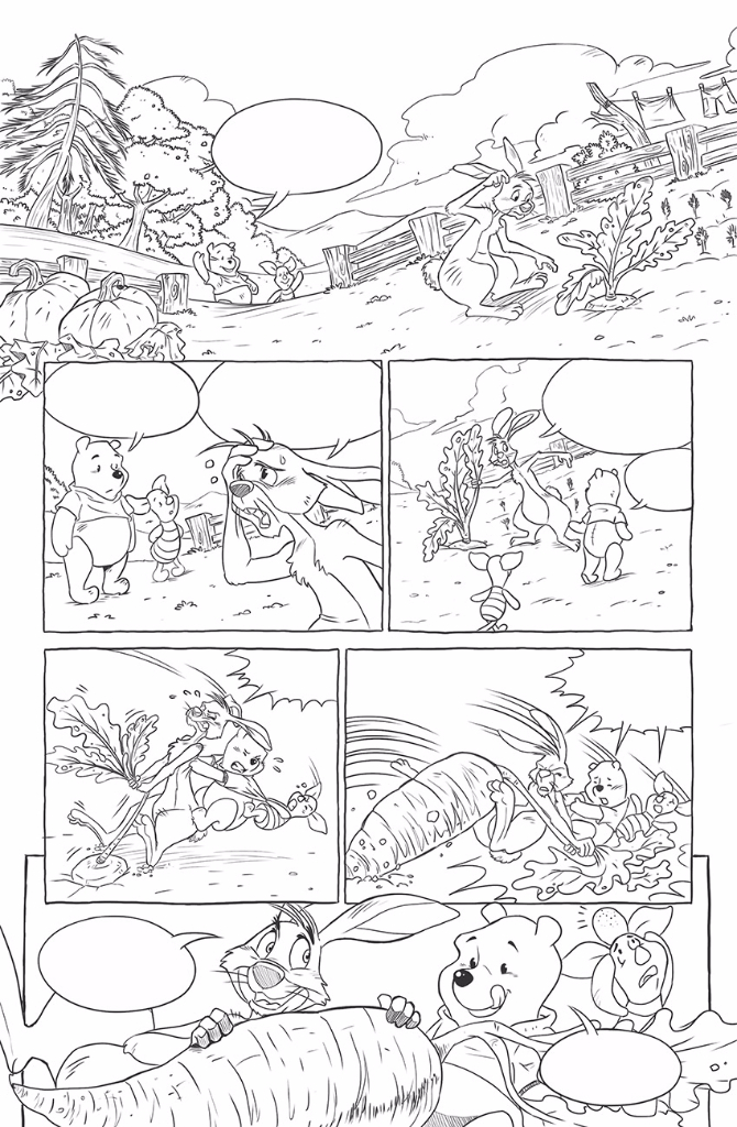 Winnie the Pooh. Sample pages for Disney©. 2014